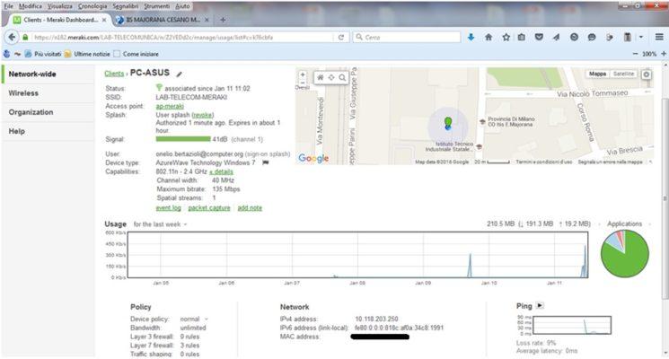 Accessi Wi-Fi controllati e monitorati